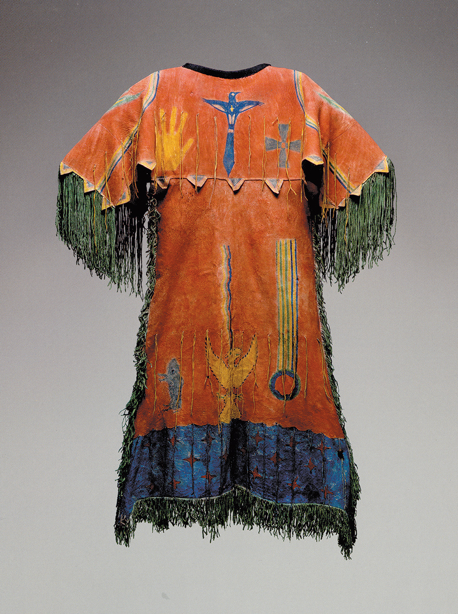 'Ghost Dance Dress'; Southern Arapaho artist, Oklahoma, circa 1890